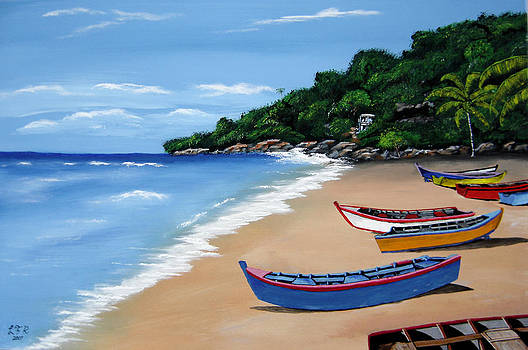Olas De Crashboat by Luis F Rodriguez