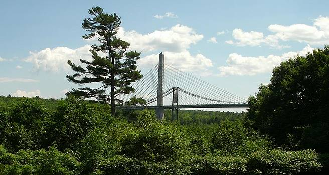 Old and New Bridges over Penobscot by David Fiske