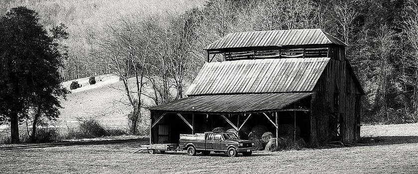 Old Barn and Ford by Greg  Booher