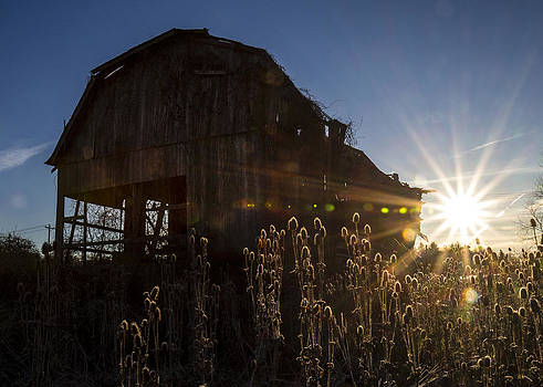 Old Barn at Sunrise  by Tim Fitzwater