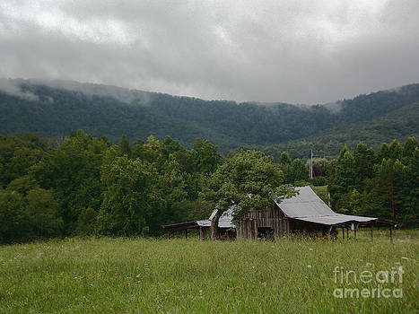 Old Barn in the Mountains by Annette Allman