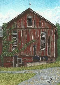 Old Barn -- Seen Better Days by Sherry Goeben