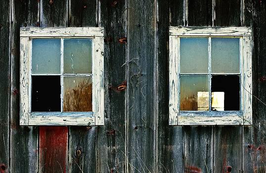 Old Barn Windows by Virginia Folkman
