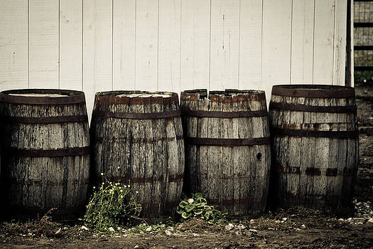 Old Barrels by Kristy Creighton
