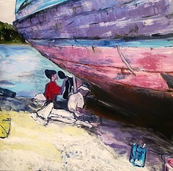 Old boat by Anna Kowalewicz