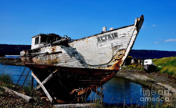 Old Boat in Homer Alaska by Tanya  Searcy