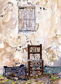 Old boots and chair by Margaret Merry