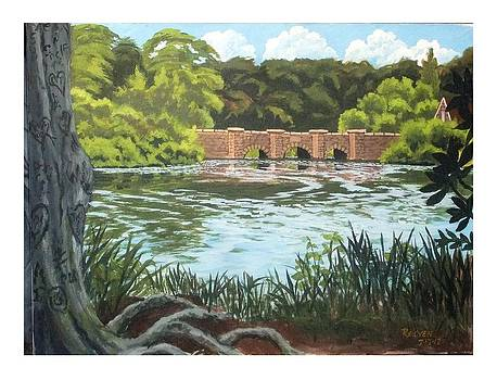 Old Bridge at Ward Melville Park by Reuven Gayle