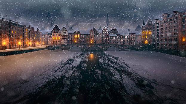 Old Bridge Winter by Tobias Roetsch