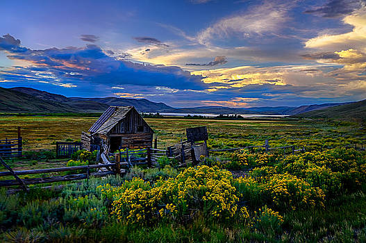 Old building sunset by Kevin Rowe