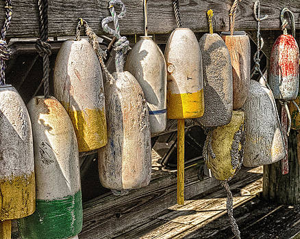 Old buoys by Dick Wood
