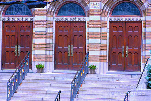 Old church doors by Judy Palkimas