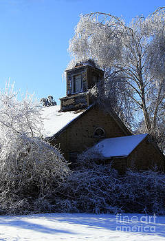 Old Church in Ice by Kathy DesJardins