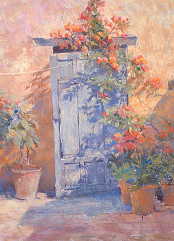 Old Courtyard Door by Jackie Simmonds