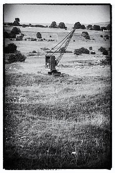 Old Crane on Bonsall Lead mine workings by Bob Kemp