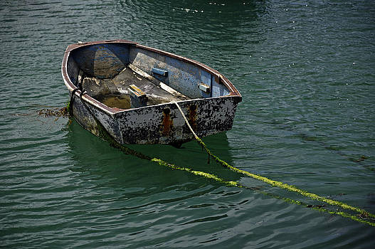 Old Dinghy - Penzance Harbour by Rod Johnson
