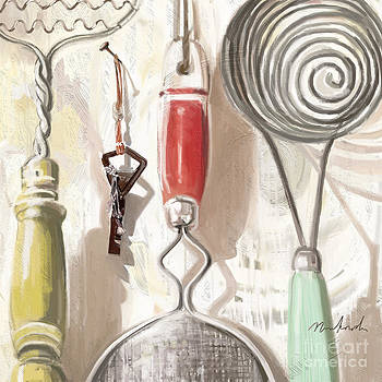 Old Fashioned Kitchen Tools by Linda Minkowski