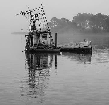 Old Fishing Boat Appalachacola Bay Fl by Tom Goldsmith