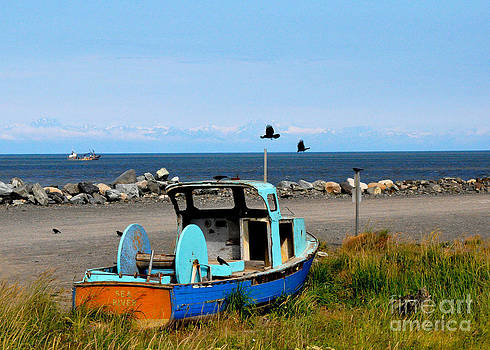 Old Fishing Boat by Tanya  Searcy