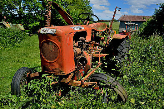 old french tractor Vendeuvre by Patrick Pestre