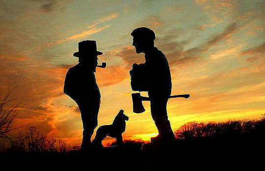 Old Friends Converge at Dusk by Larry Trupp