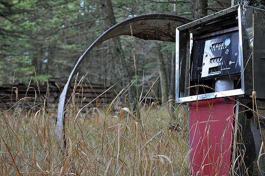 Old Gas Pump in the Montana Woods by Bruce Gourley