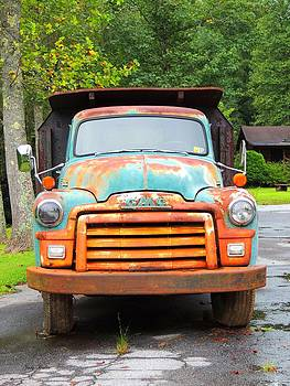Old GMC Truck by Judy  Waller