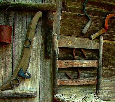 Old Hanging Ladderback by Julie Dant