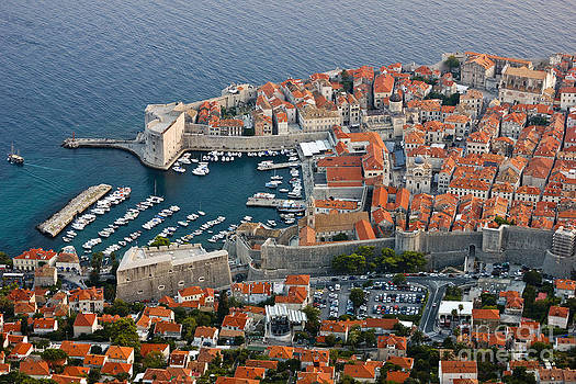 Old Harbor of Dubrovnik in Croatia by Kiril Stanchev