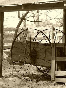 Old Hay Wagon by Judy  Waller