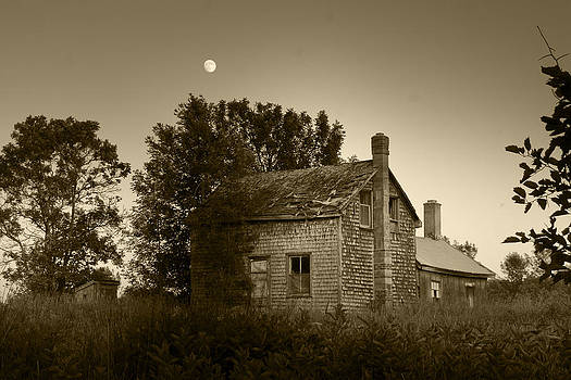 Old House in Moonlight by Daniel Martin