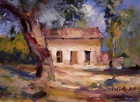 Old house in the trees by R W Goetting