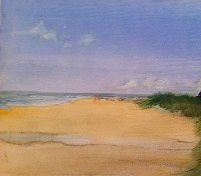Old Hunstanton Beach by Michelle Deyna-Hayward