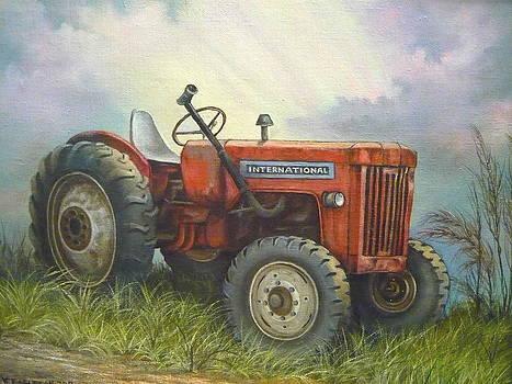 Old International Farm Tractor by Vivian Eagleson