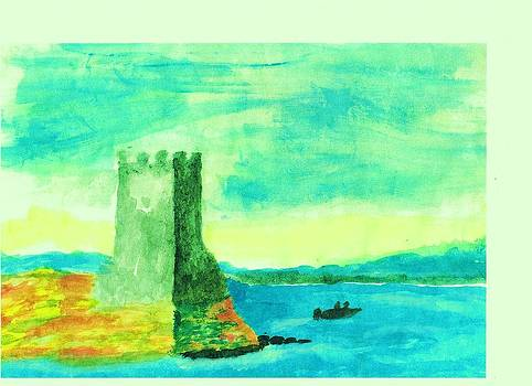 Old Irish Castle  by John Deeter
