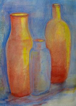 Old Jar and Bottles by Marian Hebert