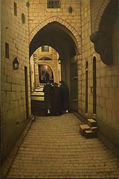 Old Jerusalem. Lane in Jewish Quarter.  by Eduard Gurevich
