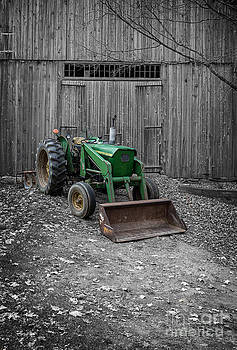 Edward Fielding - Old Tractor by the Barn Etna New Hampshire