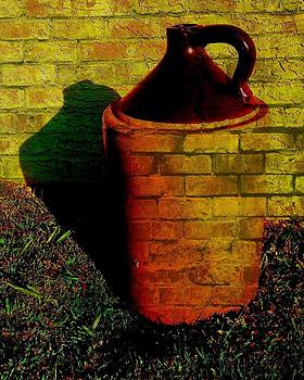 Old Jug in Graffiti by Lois Bailey