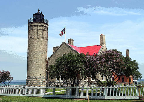 Old Mackinac Point Light by Terri Harper