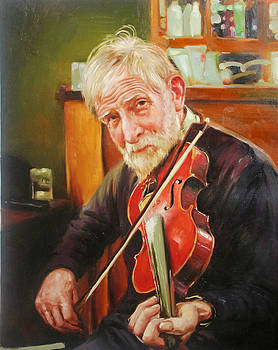 Old Man and Fiddle by Conor McGuire