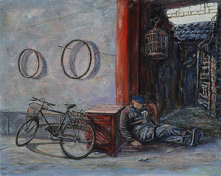 Old Man and His Bike by Xueling Zou