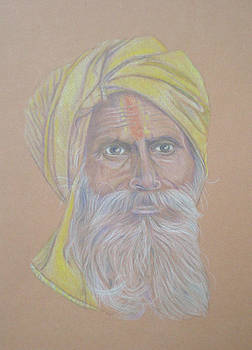 Old man from India  by Alix Mordant