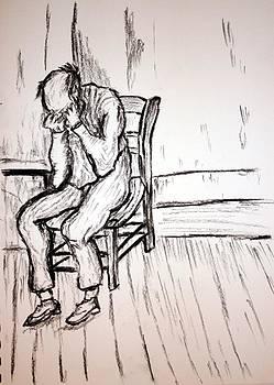 Old Man in Sorrow by Paul Morgan