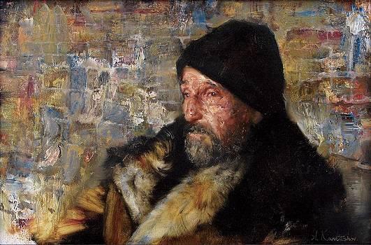 Old man near the wall by Kartashov Andrey