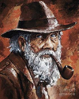 Old Man with Pipe by Emerico Imre Toth
