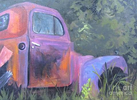 Old  Mauve Truck  by Barbara Haviland
