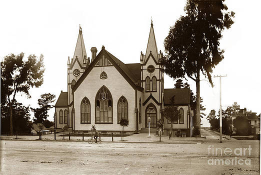 California Views Mr Pat Hathaway Archives - Old Methodist Church on Lighthouse Avenue. Pacific Grove circa 1890