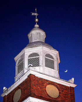 Bill Swartwout Fine Art Photography - Old Otterbein UMC Moon and Bell Tower