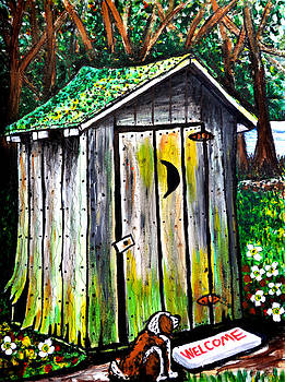 Old Outhouse by Bob Crawford